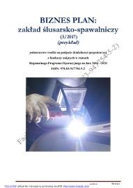 BIZNESPLAN zakład ślusarsko-spawalniczy (3) (przykład) 2017