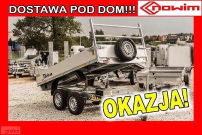 17.30 Przyczepa wywrotka Kiper budowlana ciężarowa rolnicza do minikoparki maszyn Debon Cheval wywrot elektryczny wywrotka z wychyłem ...