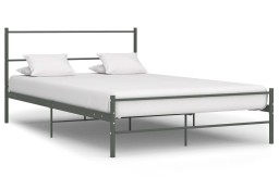 vidaXL Rama łóżka, szara, metalowa, 120 x 200 cm 284686