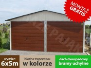 Garaż blaszany dwustanowiskowy blaszak w kolorze 6x5