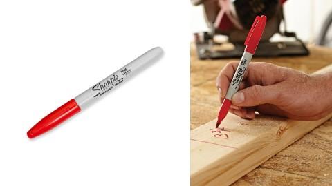 Marker permanentny Sharpie fine czerwony zestaw 12 szt