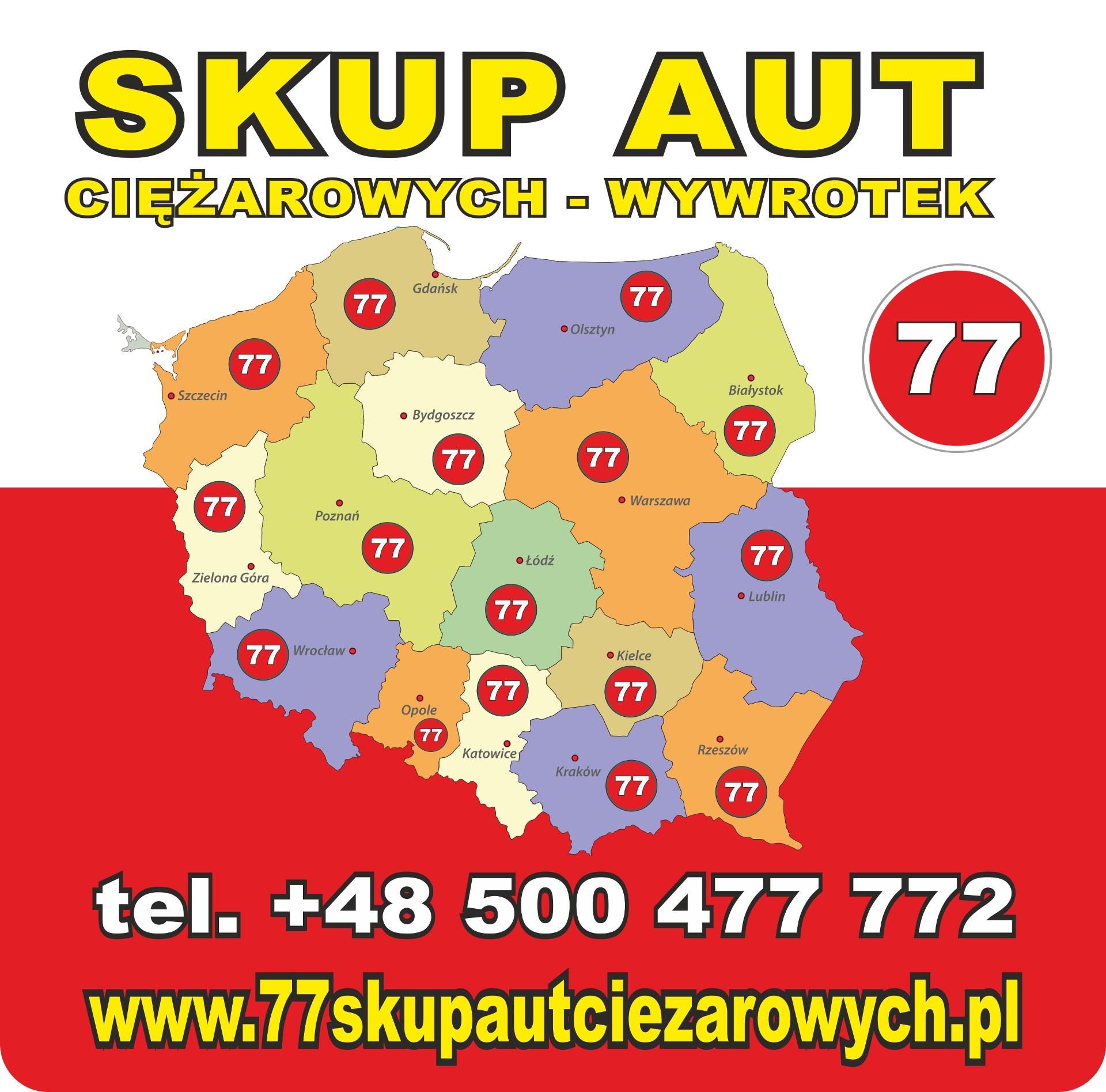 Banner ze zdjęciem firmy 77 SKUPAUTCIEZAROWYCH.PL